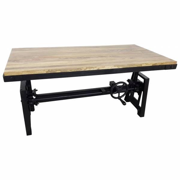 Couchtisch Plank Lift höhenverstellbar Kurbel Wohnzimmertisch Vintage Crank Table