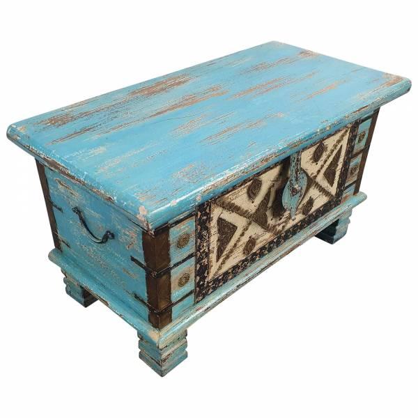 Holztruhe Vintage Truhe Holz Shabby Kiste Holzkiste Box Lagerung Massiv Unikat 5