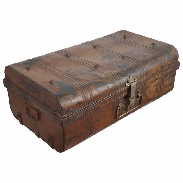 Alter Koffer Metall Vintage Metallkoffer alte Kiste Metalllkiste shabby Unikat 14