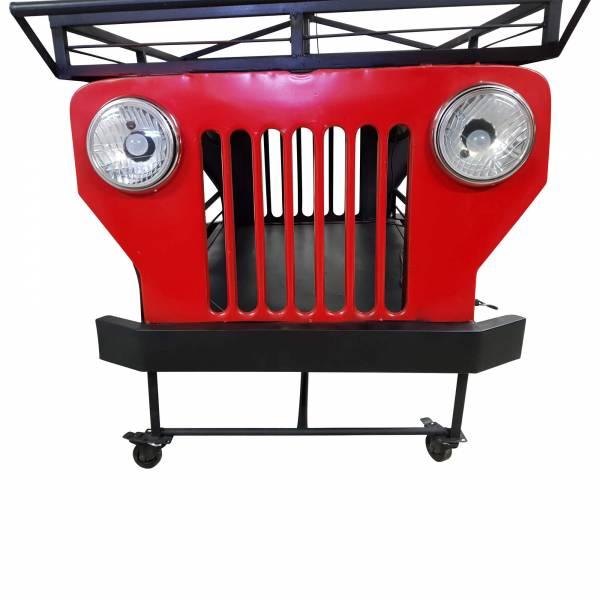 Jeep Front Regal Rot schwarz Auto Möbel Vintage Industrial Design Art