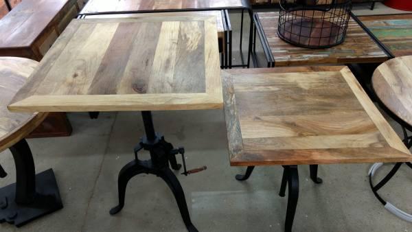 Stehtisch Esstisch Bartisch Bistrotisch 76 cm Massivholz Industrial Design Crank