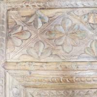Indische Tür Kassetten Holztür Holzrahmen mit Schnitzereien alt Antik Massivholz