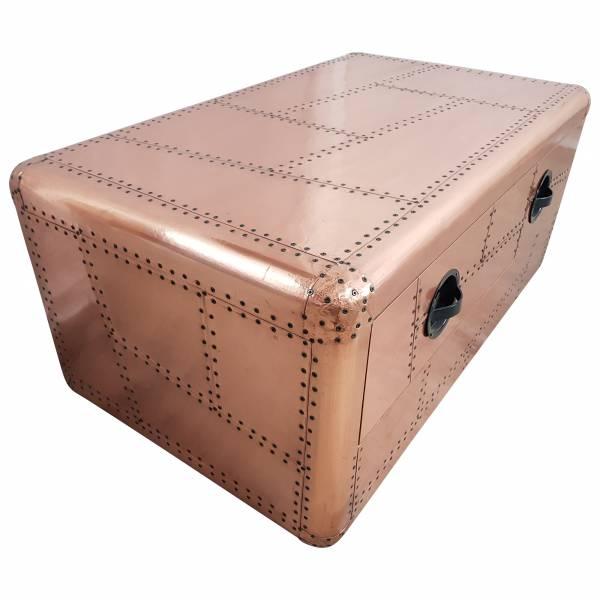 Couchtisch Wohnzimmertisch Aviator Sofatisch Loungetisch Kupfer-Fahrbig Design