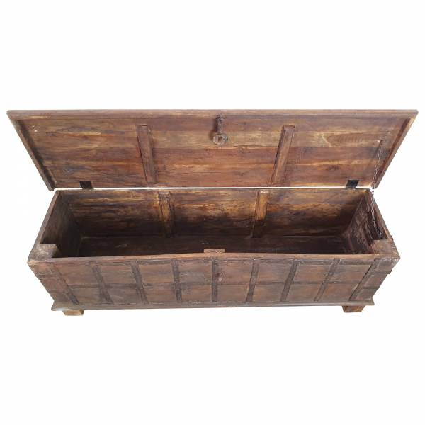 Truhe Kiste Holztruhe groß Vintage Massiv Box aus Altholz Alt Unikat