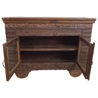 Kommode Sideboard Vitrine Schrank Vintage Massivholz Altholz 2 Türen Unikat 2
