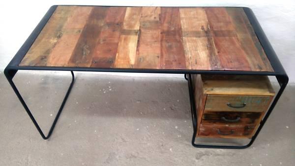Schreibtisch Bürotisch Büro Ofiice Tisch Shabby Chick Altholz Industrie Design