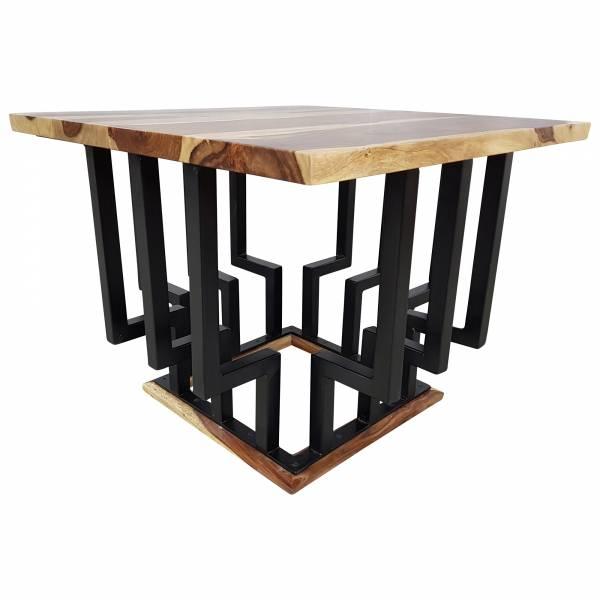 Couchtisch Lounge-Tisch Sheesham Massivholz Bar Bistro Cafe Loft Industrial