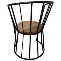 Stuhl Schwarz Esszimmerstuhl Industrie Design Massiv-Holz Handarbeit Industrial