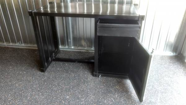 Schreibtisch Container Möbel Metall schwarz Industrie-Design Industrial Look Tex