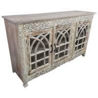 Sideboard Kommode Anrichte Schrank Glas Design Holz Vintage Shabby Chic