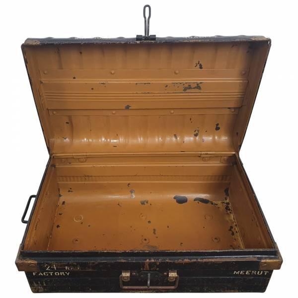 Alter Koffer Metall Vintage Metallkoffer alte Kiste Metalllkiste shabby Unikat 15
