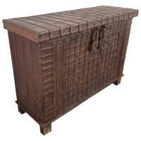 Kommode Truhendesign Vintage Massivholz Altholz 4 Schubladen Unikat 2