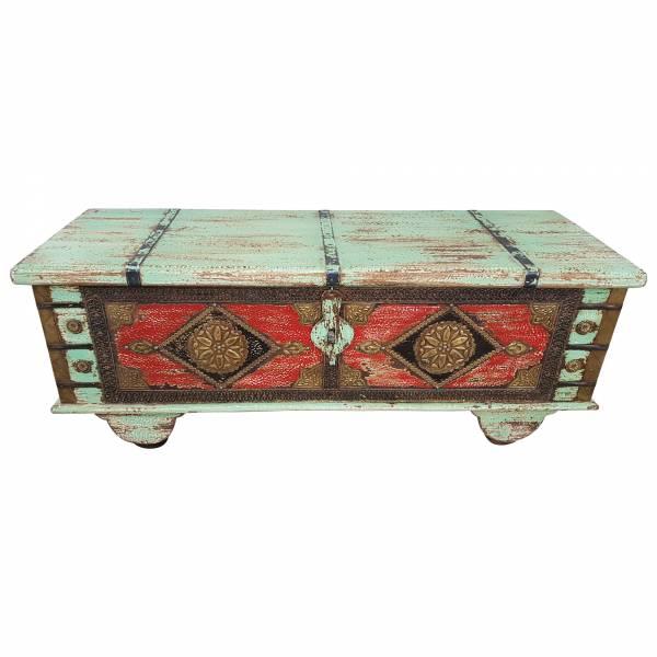 Truhe Kiste Holztruhe Vintage Massiv Box aus Altholz Antik Handarbeit Unikat 10